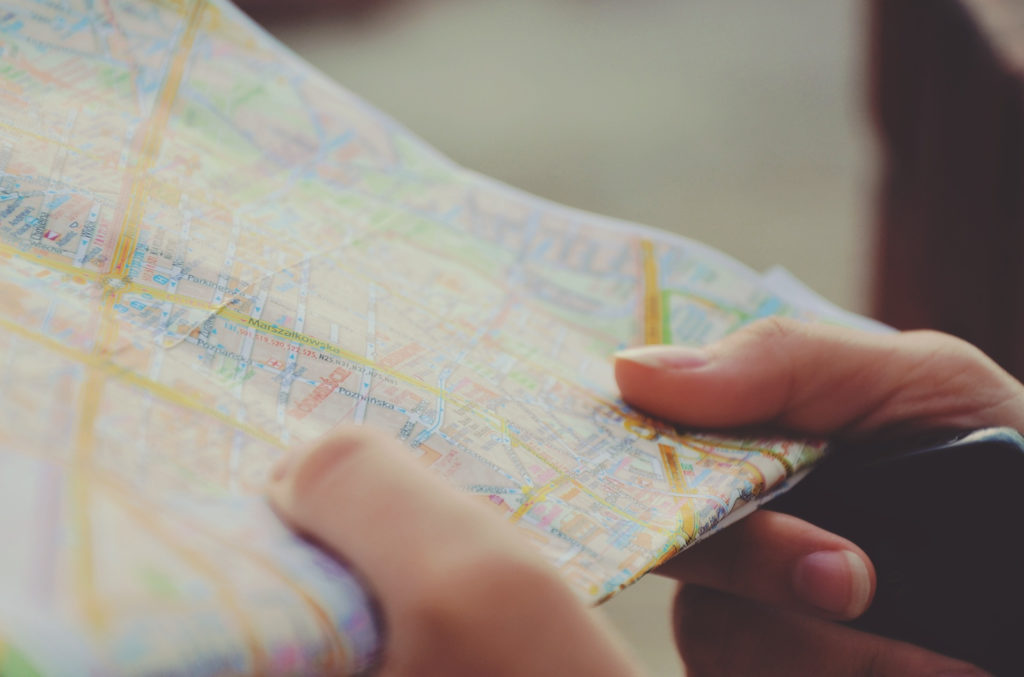 person holding roadmap