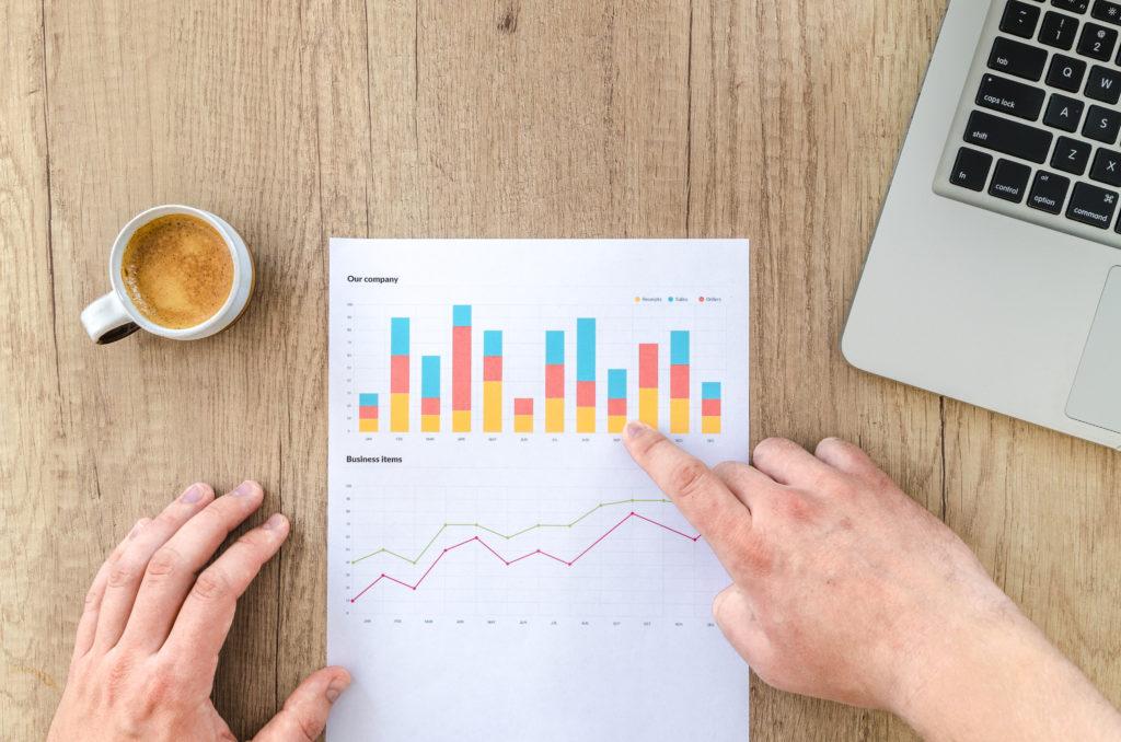 graph chart showing economic forecast