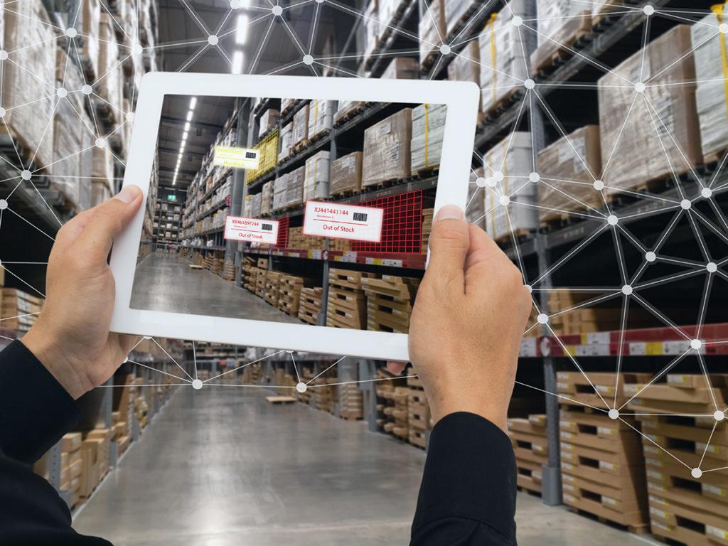 ipad in warehouse
