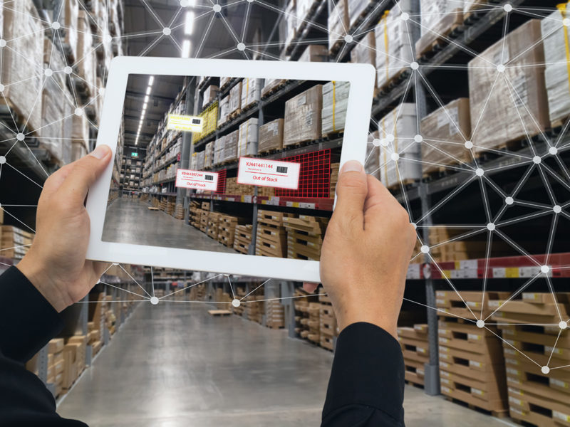 ipad in warehouse