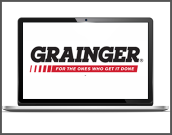 Grainger logo on a screen