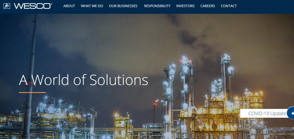 WESCO website image June 2020