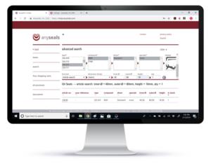 rendering of anyseals e-shop website