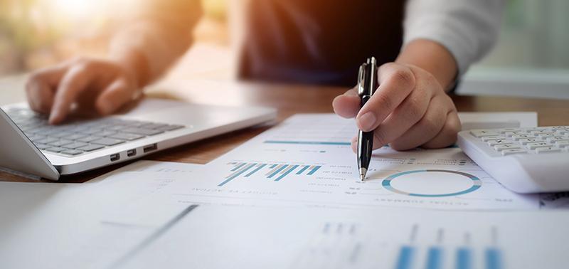 Business colleague analysis data document