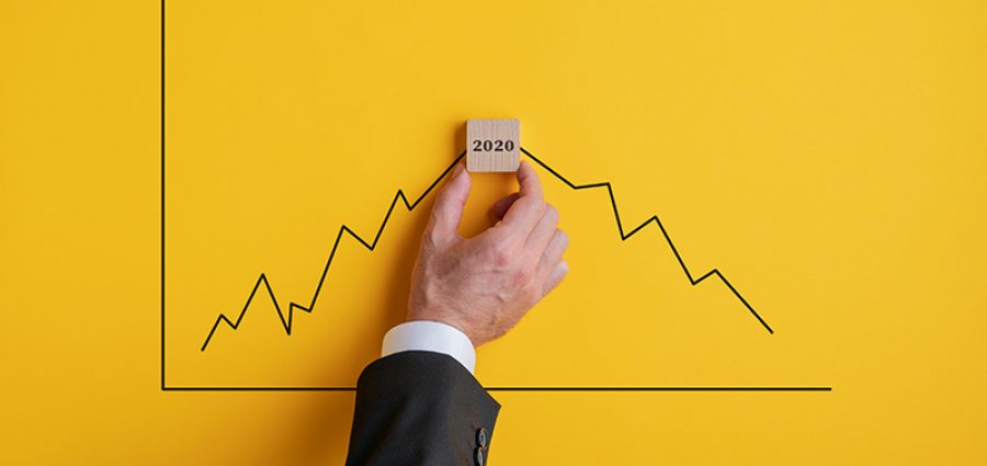 Broker predicting recession in 2020 due to global corona virus pandemic.