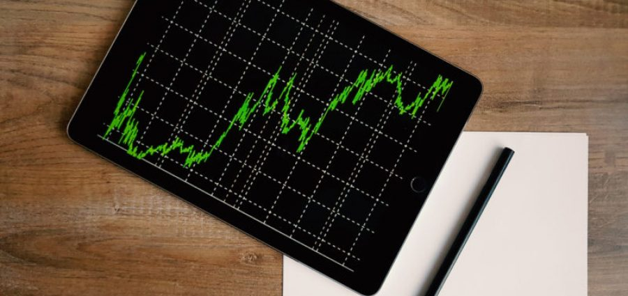 tablet with graph showing pricing fluctuation