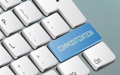 commoditization written on the keyboard button