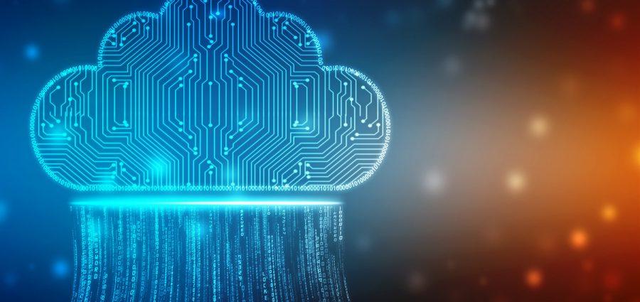 2d illustration of  Cloud computing, Cloud computing and Big dat
