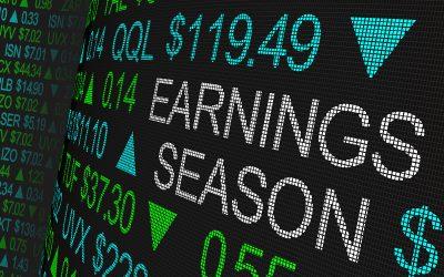 Earnings Season Company Reports Stock Market Ticker Words 3d Ill