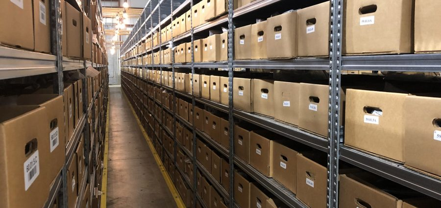 boxes on shelves in the anyseals warehouse