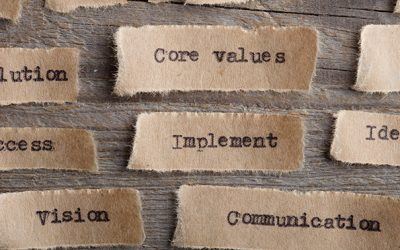 CORE VALUE - word on a piece of paper close up, business creative motivation concept