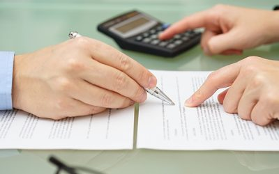 calculating cost to serve with two people reviewing a contract