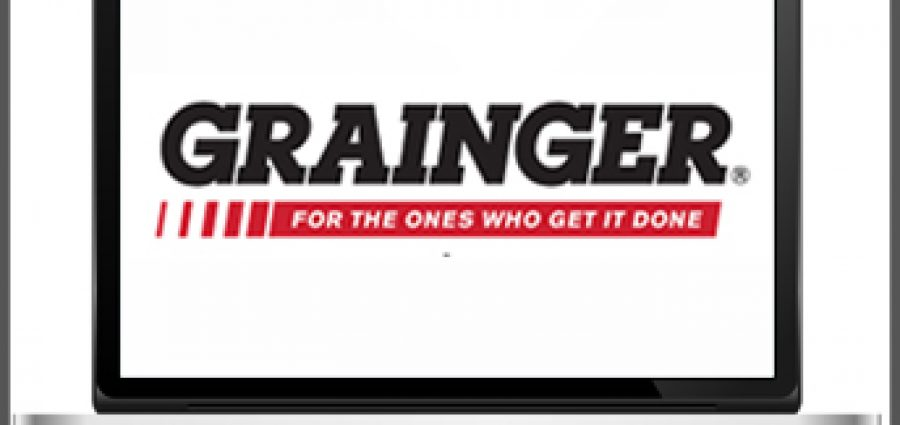 Grainger logo on a screen