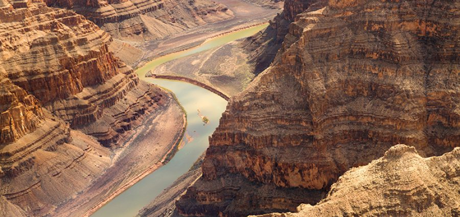 landscape and nature concept - view of grand canyon cliffs and colorado river