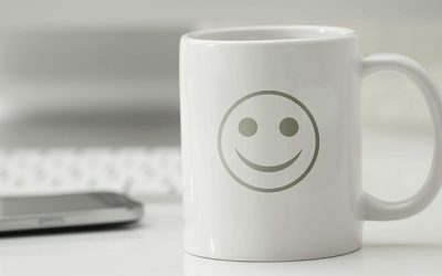 happy white coffee mug computer