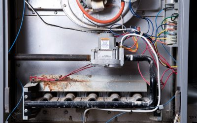 the inside of an open furnace
